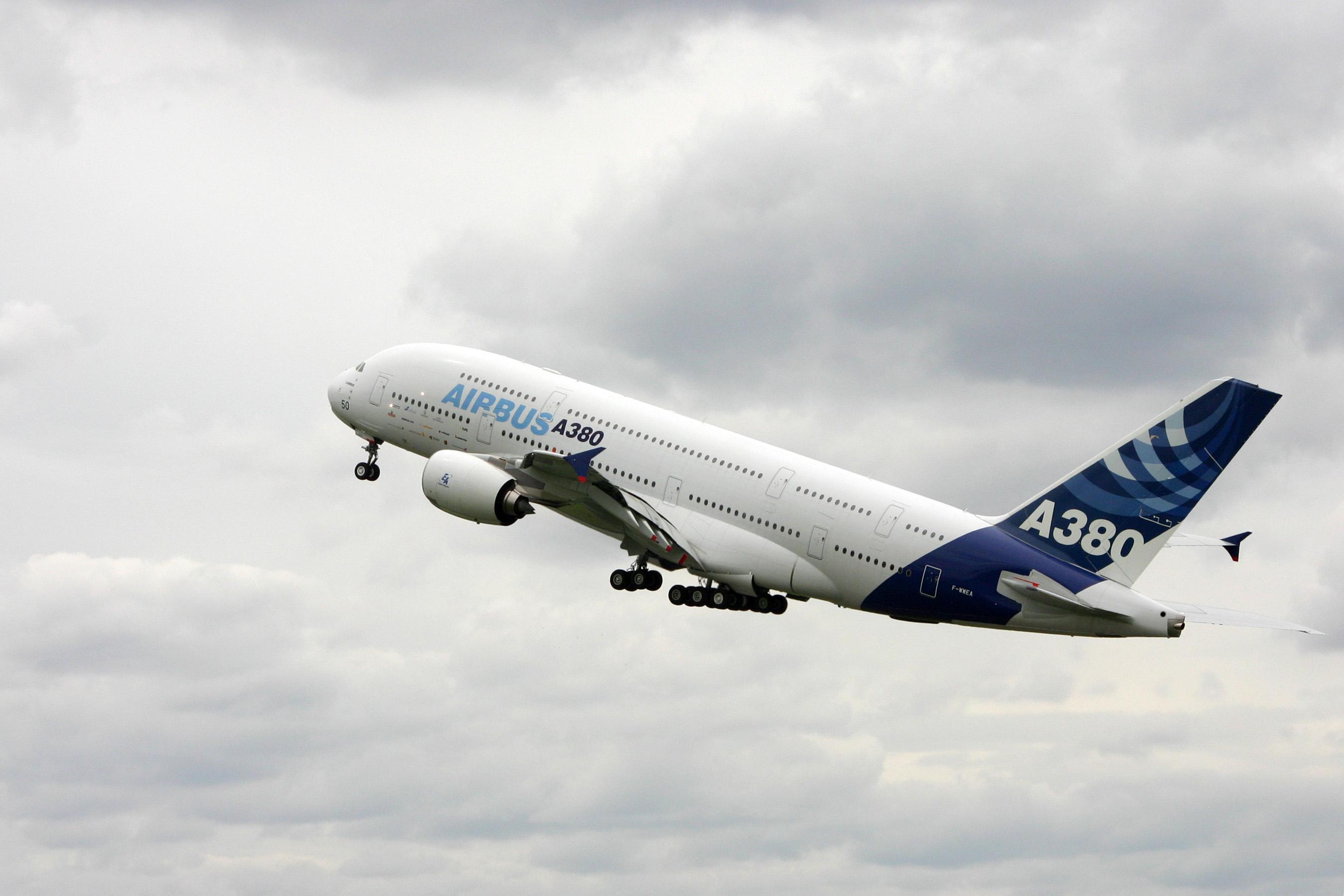 Décollage de l'A380