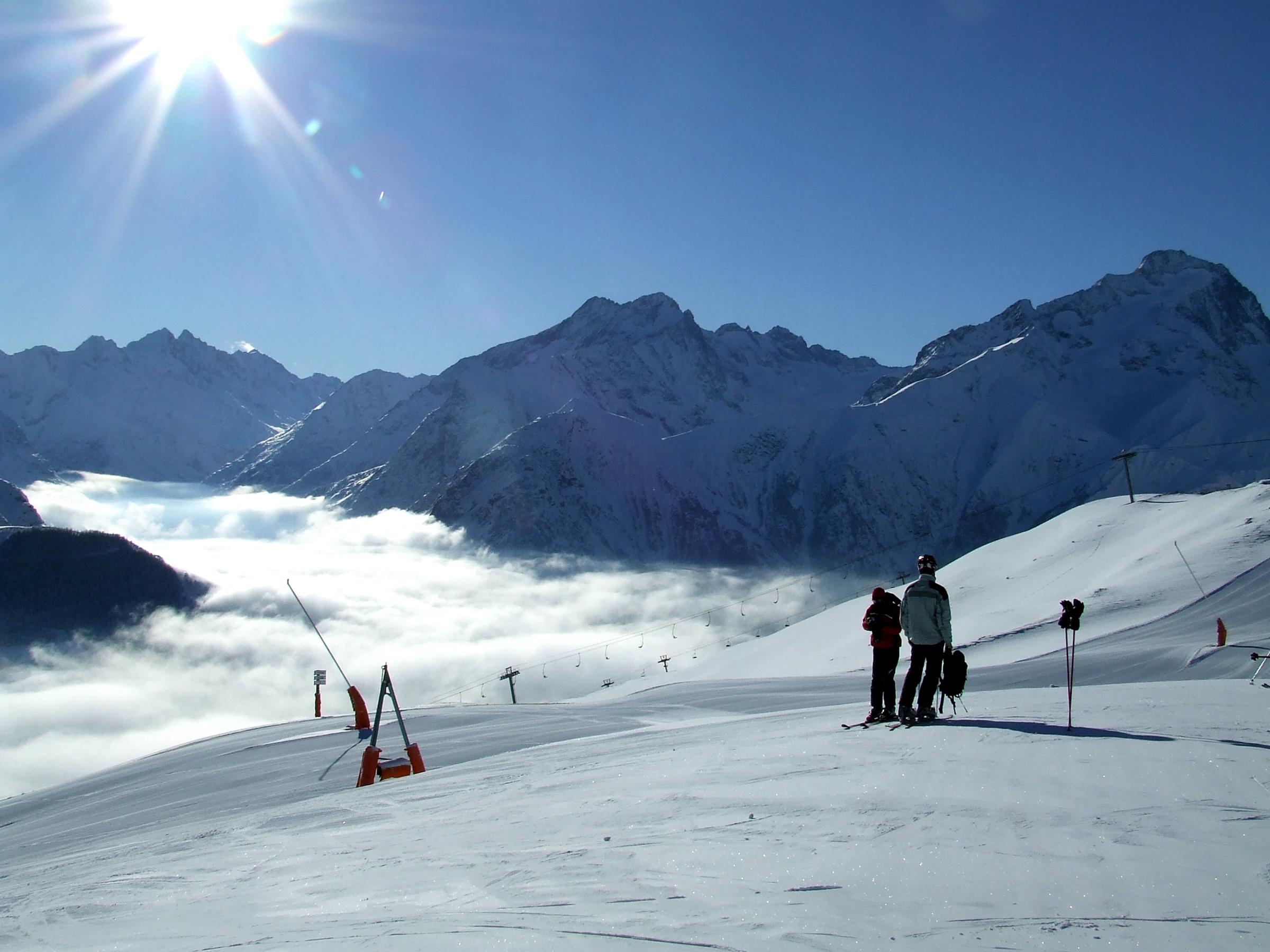 Vue de la station des Deux Alpes