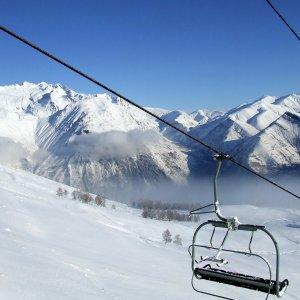 Télésiège aux Deux Alpes