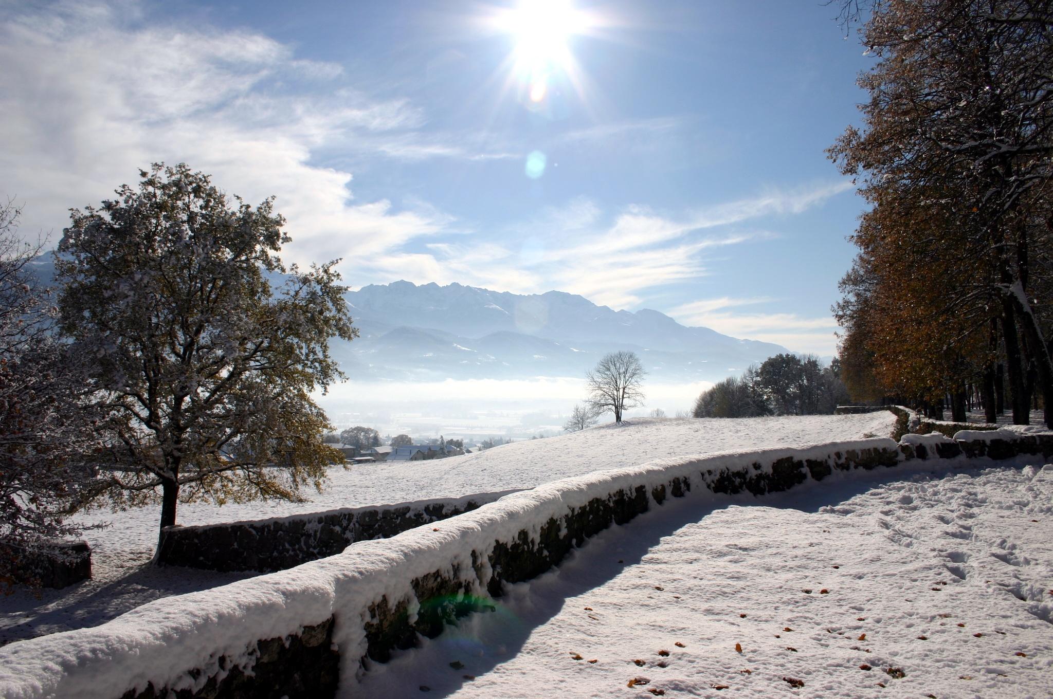 Le Touvet sous la neige