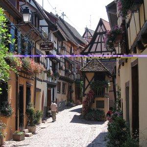 Rue d'Eguisheim et auberge