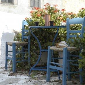 Petit déjeuner à Naxos