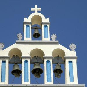Clocher à Santorin