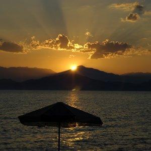 Coucher de soleil au Péloponèse