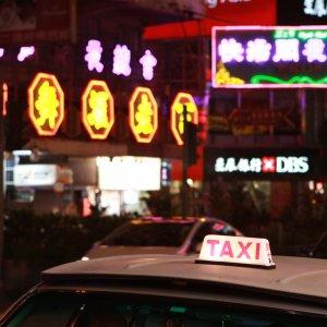 Taxi de nuit à HK