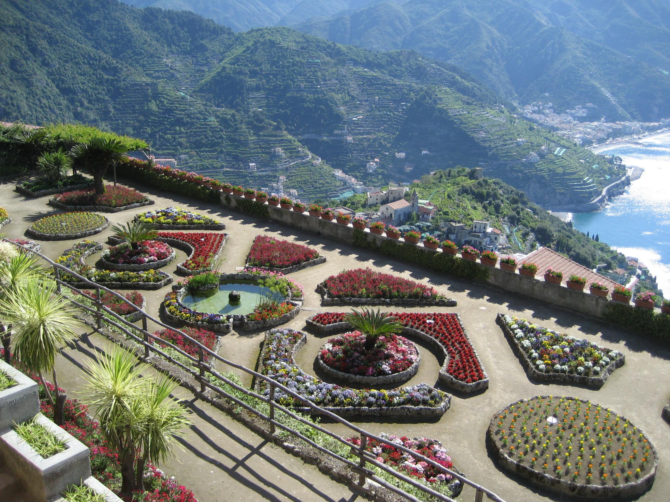 jardin de la villa rufolo sur freemages