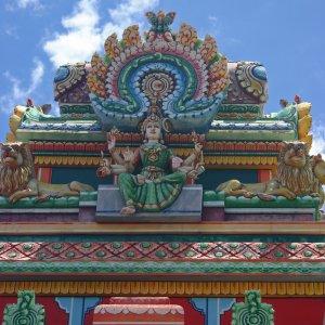 Détail d'un temple tamoul