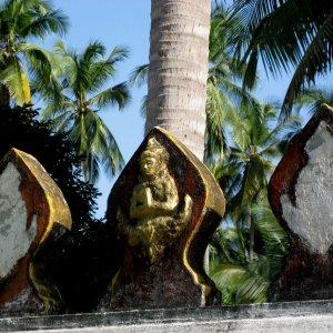 Détail du mur de Wat Xieng Thong