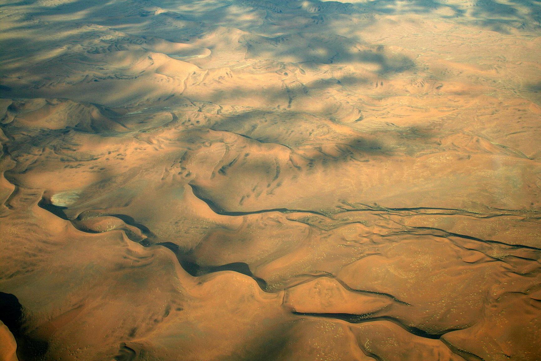 Le Namib vu du ciel