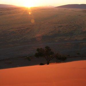 Lever de Soleil à Sesriem (Namibie)