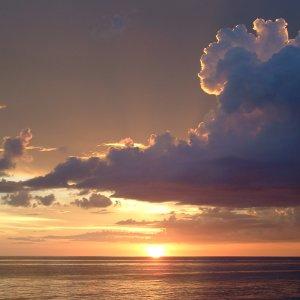 Coucher de soleil dans le Golfe du Mexique