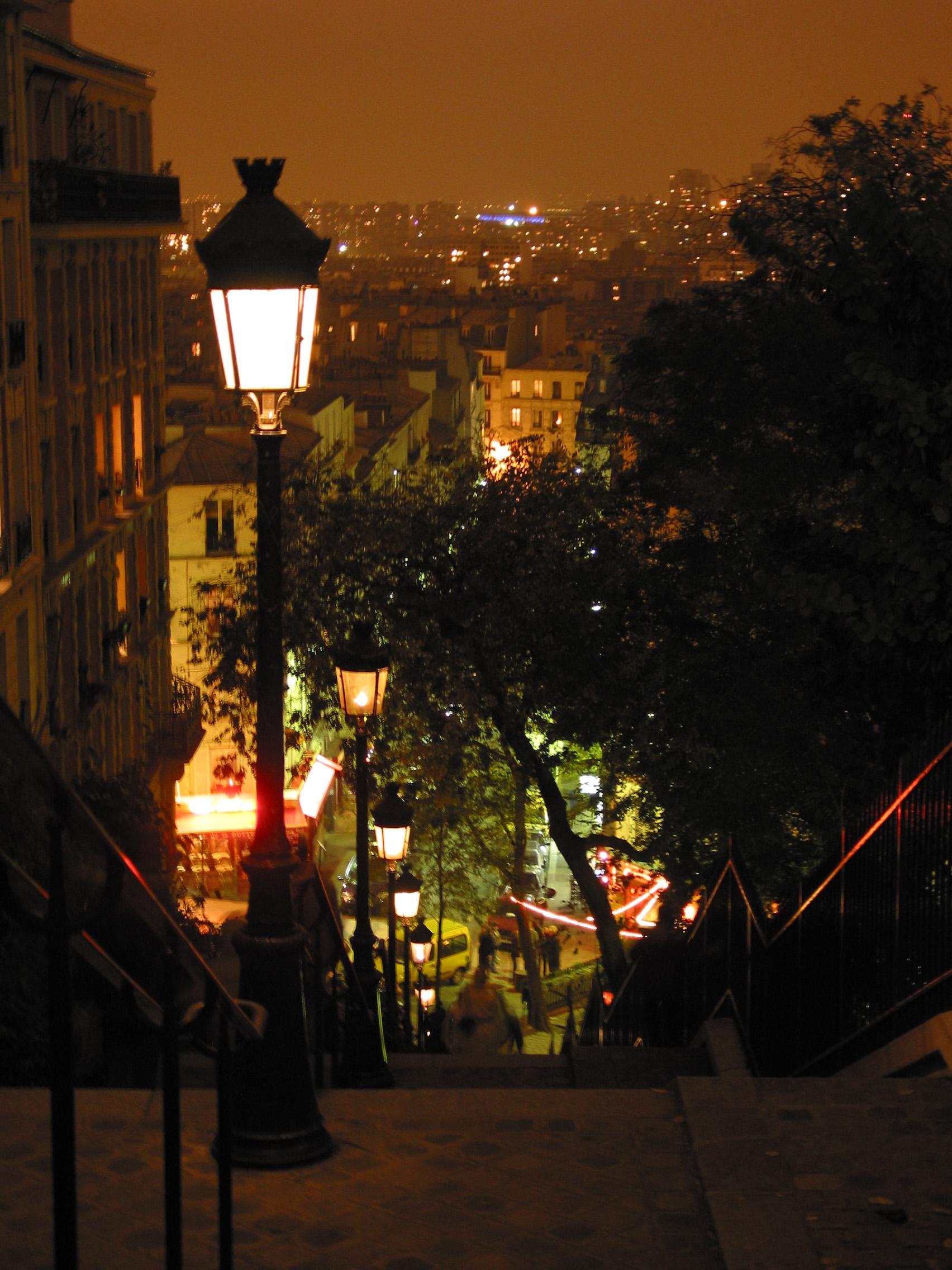 Album paris montmartre escalier de montmartre