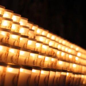 Bougies à Notre-Dame