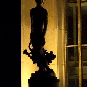 Détail du Trocadéro de nuit