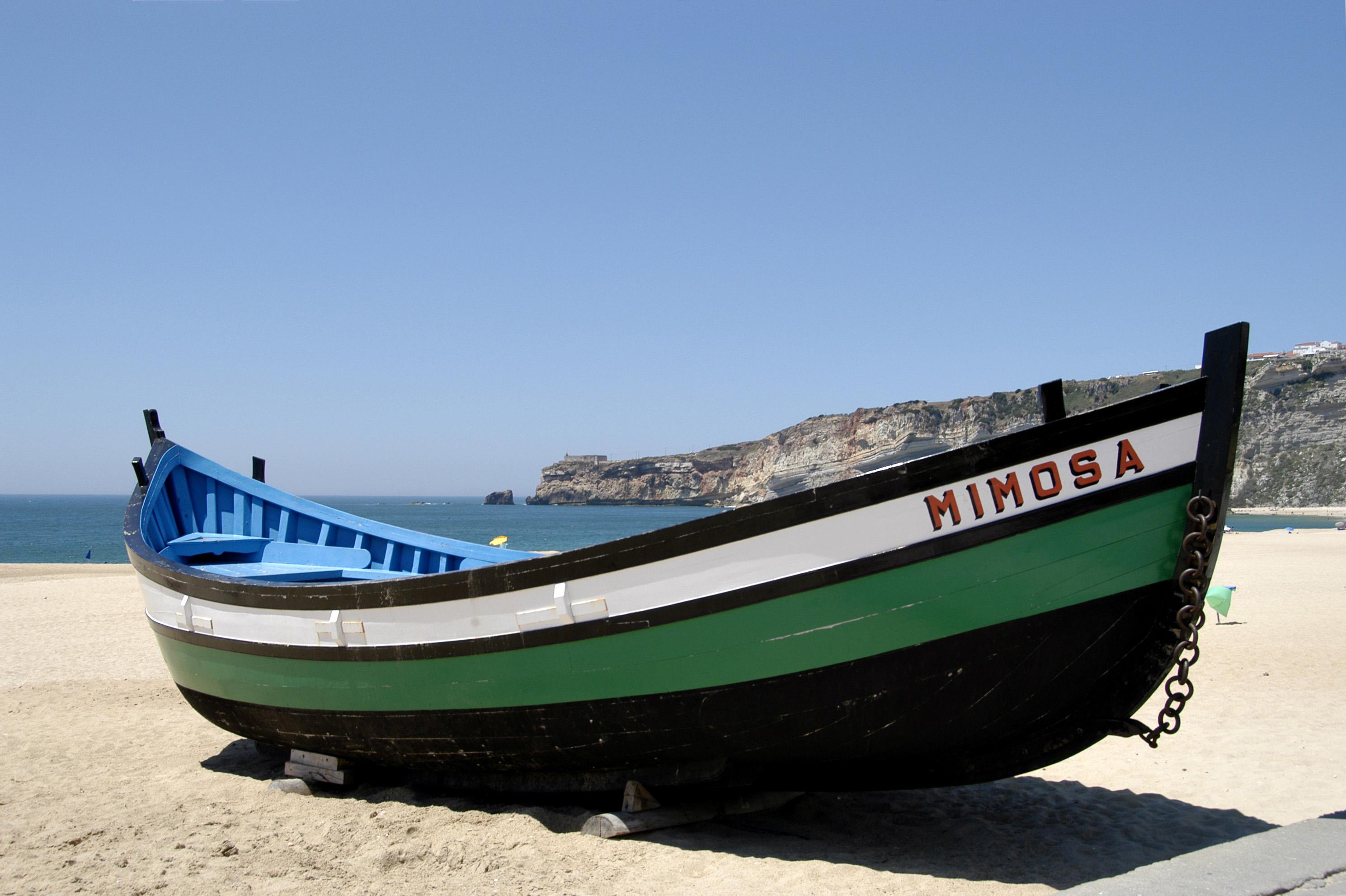 Barque de pêche à nazaré barque de pêche typique résolution